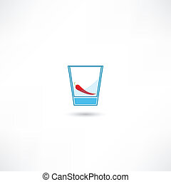 Red pepper in a glass