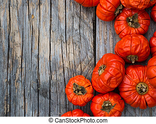 Red pepper in autumnal decoration