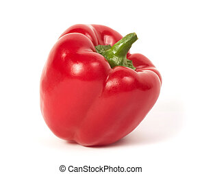 Red pepper isolated on a white