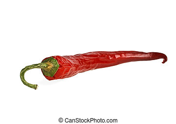 Red pepper, isolated on a white background
