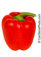 Red pepper isolated on white.