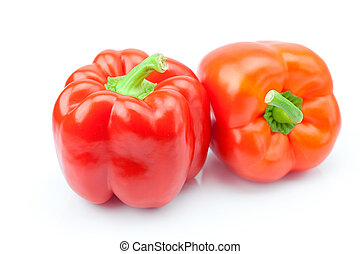red pepper isolated on white