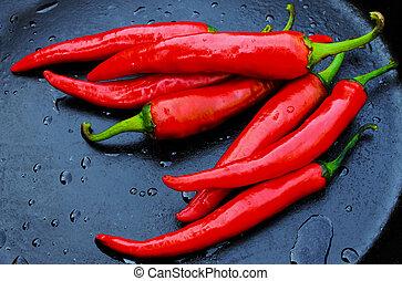 red pepper on a dark background