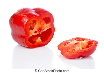 Red pepper slices