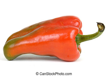 Red Pepper - Vegetable red pepper on a white background