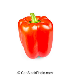 Red peppers standing, isolated