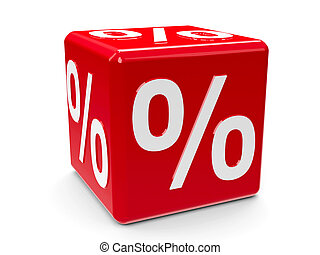 Red percent button - 2