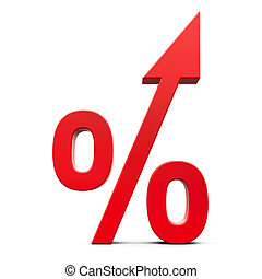 Red percent increase