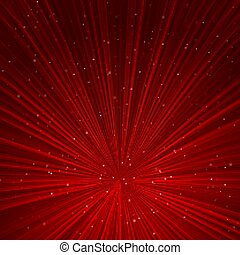 Red perspective lines abstract background.