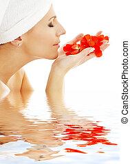 red petals in water #2