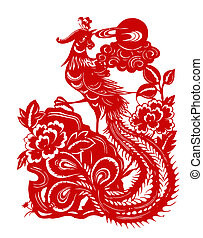 Red phoenix - Chinese traditional culture,Chinese Zodiac of...