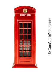 Red Phone booth - a typical english red phone booth isolated...
