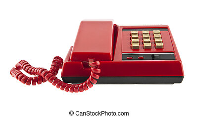 red phone isolated on white background