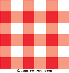 Red picnic table cloth plaid with square details