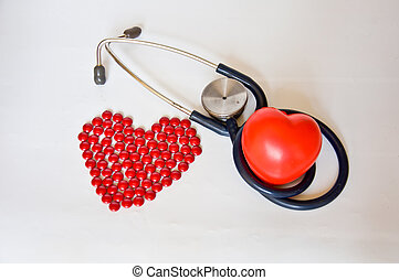 Red pill and red heart