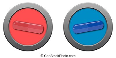 Red Pill Blue Pill Icons