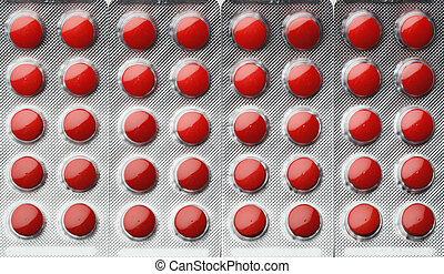 red pills blister pack