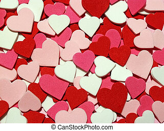 hearts - red, pink and white hearts