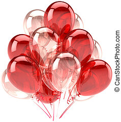 Red pink ballons party decoration - Balloons party birthday ...