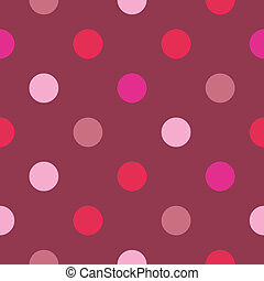 Red pink dots vector background