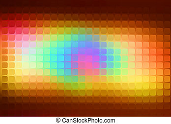 Red pink green blue brown abstract rounded mosaic background
