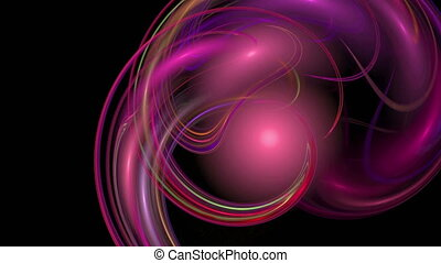 Red pink waves pattern abstract motion background