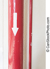 Red Pipe with Directrion