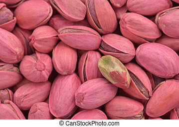 Red pistachio - Close-up of red pistachio nut to use as...