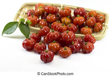 Red Pitangas - Pitangas. Brazilian cherries or Brazilian red...