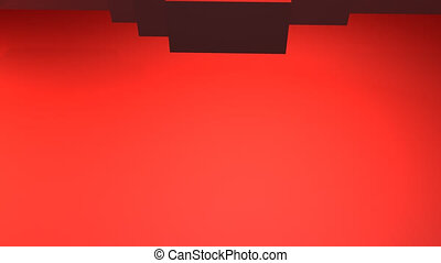 Red pixel heart beat - Animated 3d scene with a pixel made...
