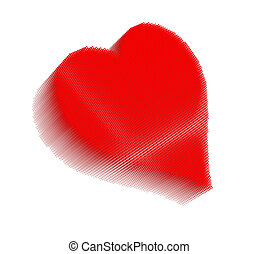 Red pixel icon-like image of heart