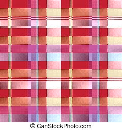 Red pixel plaid seamless fabric texture