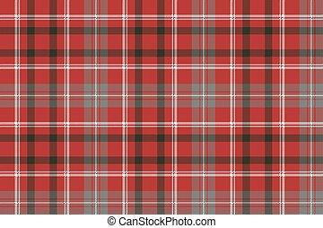 Red pixel plaid seamless pattern