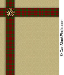 Red Plaid border template - Image and illustration...