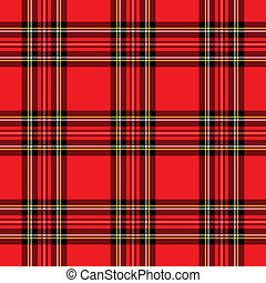 Red Plaid Pattern - Background illustration of red and black...