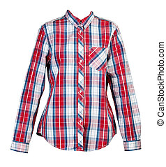 red plaid shirt women
