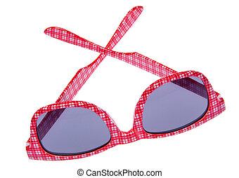 Red Plaid Sunglasses