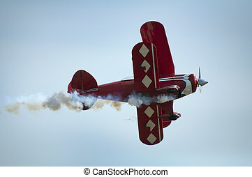 Red plane looping