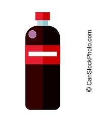 Red Plastic Bottle
