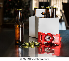 Red plastic capper to put metal caps on beer bottle - Home...