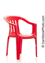 plastic chair on white background