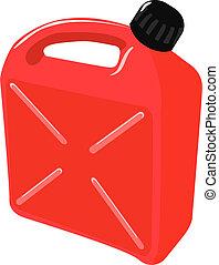 Red plastic jerrican