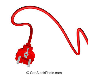 Red plug in - Creative design of Red plug in