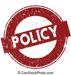 Red POLICY rubber stamp illustration on white background