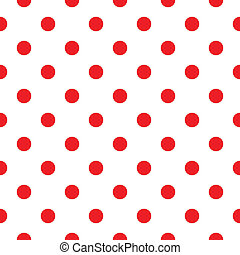 Red polka dot seamless pattern design - Polka dot fabric....