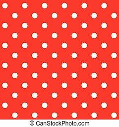 Red polka dot seamless pattern