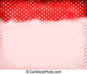 Red Polka Dots - A digitally painted red scrappy note paper...