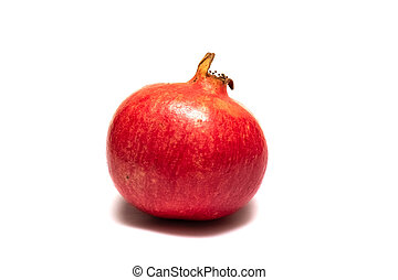 Red pomegranate isolated on a white background