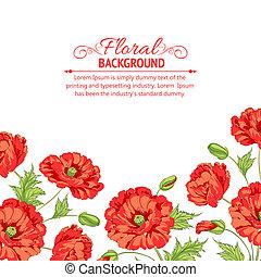 Red poppy card.