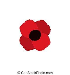 poppy vector flower memorial symbol world war icon